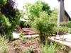 Frische Bepflanzung mit Terrassenanlage
