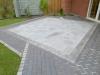 Terrassenpflasterung mit Kleinpflastereinfassung